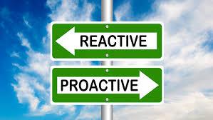 """panneaux routiers """"réactive - proactive"""""""